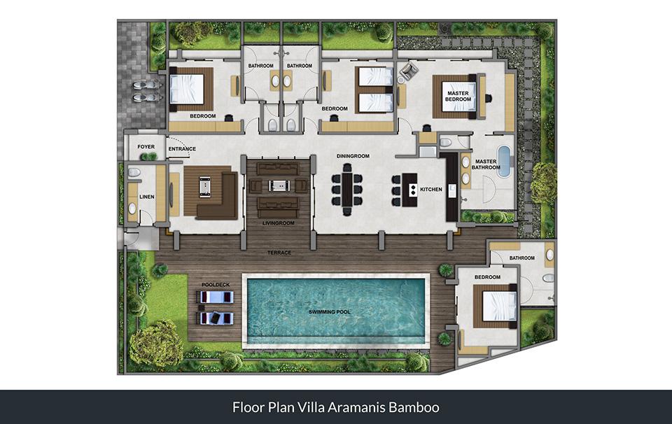 Floorplan Villa Bamboo