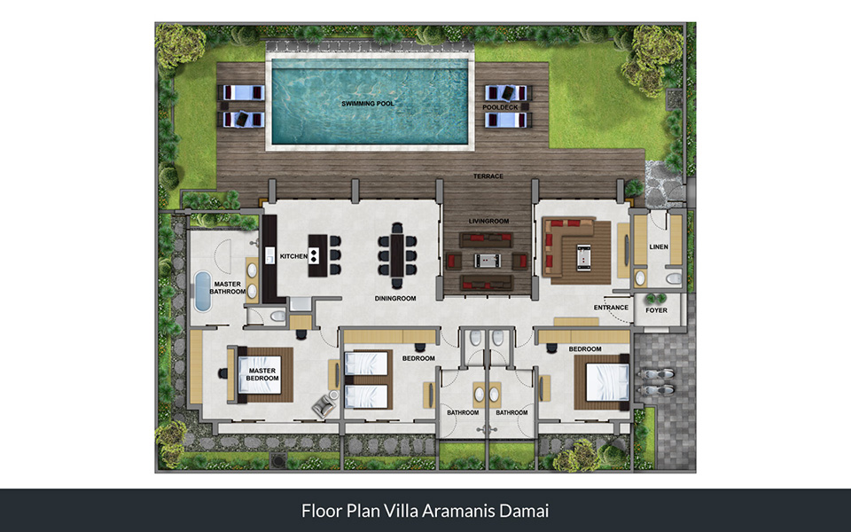 Floorplan Villa Damai