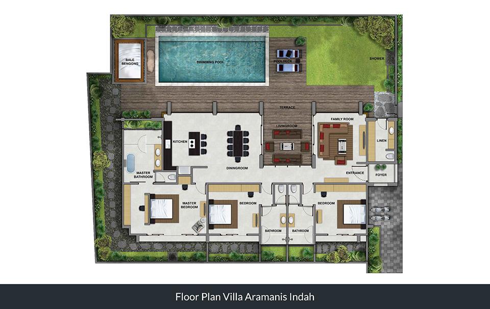 Floorplan Villa Indah